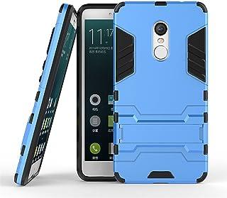 MaiJin Funda para Xiaomi Redmi Note 4 / Redmi Note 4X (5,5 Pulgadas) 2 en 1 Híbrida Rugged Armor Case Choque Absorción Protección Dual Layer Bumper Carcasa con Pata de Cabra (Azul)