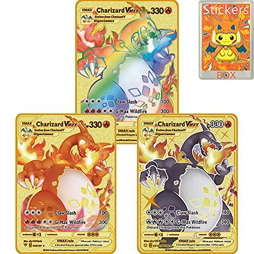 Pokemon Metal Gold Plated Card, Cha…