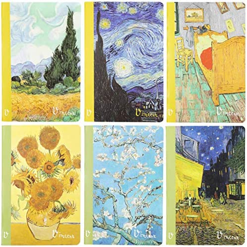 Vincent Van Gogh Lined Journal Notebook A5 Size Soft Cover 6 Pack product image