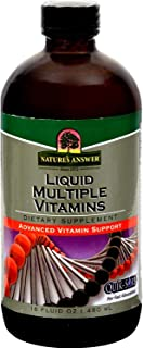 Natures Answer Liquid Multiple Vitamins - Advanced Vitamin Supplement with Quick-Sorb - 16 fl oz (Pack of 4)