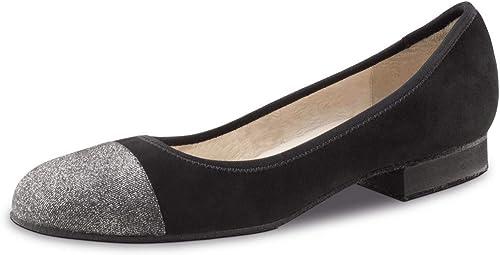 Werner Kern Femmes Chaussures Chaussures de Danse Bea - Suéde Noir Brocart Argent - 1,5 cm Micro-Heel  nous fournissons le meilleur