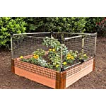 Frame-It-All Stack & Extend Animal Barrier 5 Connects to anchor or stacking joints in Frame It All raised garden beds (for other applications, stake directly into the ground) Durable plastic and stainless-steel construction Keeps out small to large sized animals