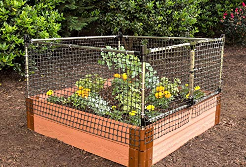 Frame-It-All Stack & Extend Animal Barrier 2 Connects to anchor or stacking joints in Frame It All raised garden beds (for other applications, stake directly into the ground) Durable plastic and stainless-steel construction Keeps out small to large sized animals