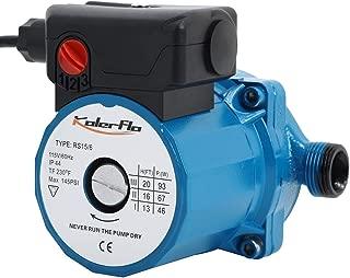 KOLERFLO 115V Water Recirculating Pump 3/4 Circulating Water Pump for Water Heater System(RS15-6 Blue)