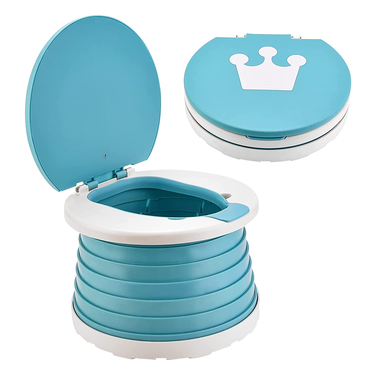 Travel Potty for Toddler, INSOUR Kids Portable Potty Training Toilet for Indoor and Outdoor, 2-in-1 Car Potty Chair for Baby
