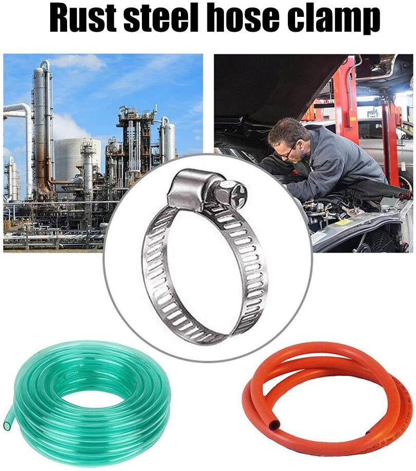 Size : 20pcs Zyj stores Hose Clamp HOT Hose Clamp Stainless Steel Adjustable 13-19mm Range Worm Gear Hose Clamp Water Pipe Clamps NDS66 Hose Pipe Clamp