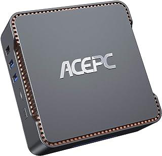 ACEPC AK3 Mini PC,Intel Celeron N3350,4GB DDR3+64 GB eMMC,Windows 10 Pro,Apoyo 2.5'' SATA SSD/HDD,Dual WiFi 2.4/5G, Blueto...