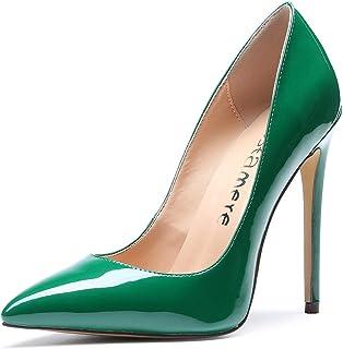 0ac394efc13c3d CASTAMERE Escarpins Femme Talon Fête Mariage Sexy Talon Haut Aiguille Bout  Pointu High Heels Chaussures Stilettos
