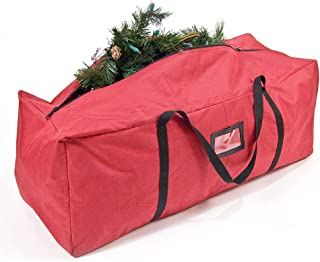 Santa's Bags [Red Duffle Bag Storage Bag] - Christmas Tree Storage Bag for Artificial Trees up to 4 Feet Tall - Works Great for Garlands and Seasonal Decorations - ID Tag Holder (36-Inch)