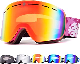 HUBO SPORTS Ski Goggles Snowboard Ski Goggles Skiing Goggles with Anti Fog, Anti Glare, Wind Resistance for Men, Women and Unisex