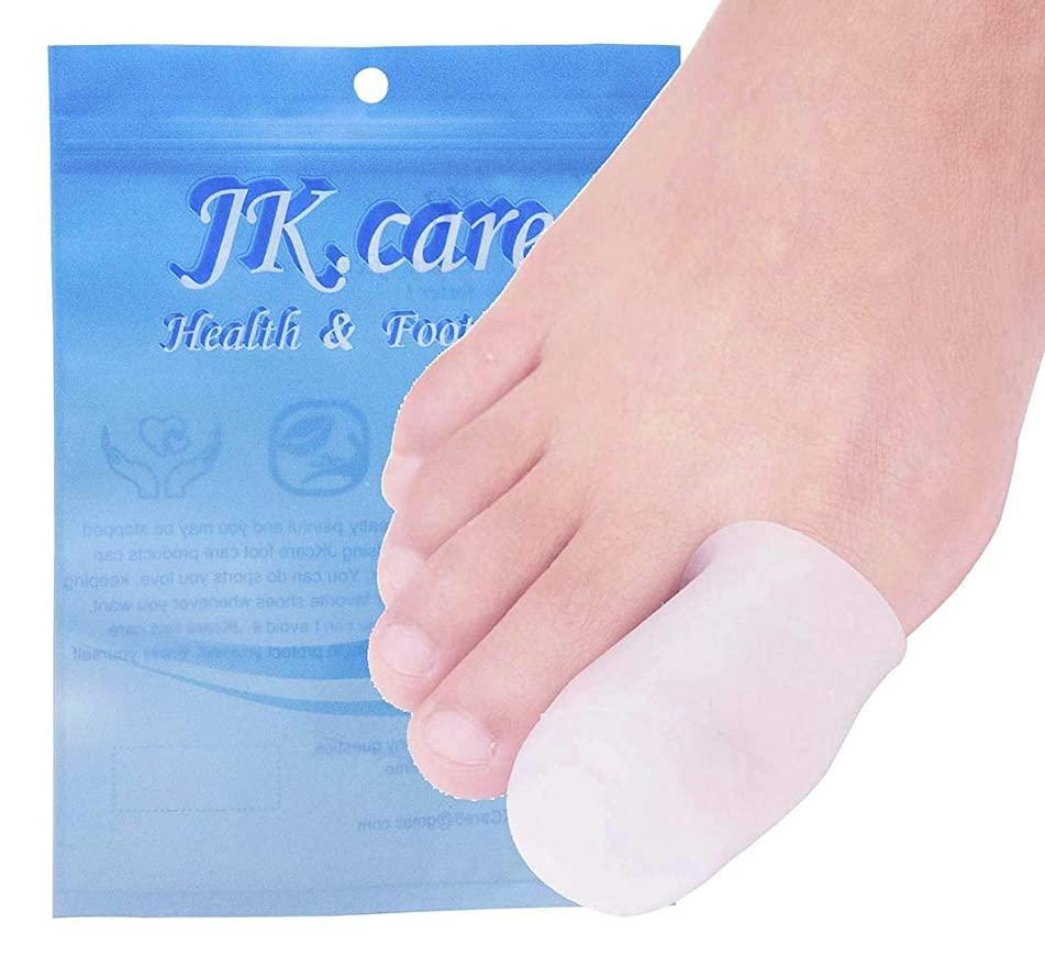 JKcare 10 Pack Big Toe Caps Protectors, Gel Toe Covers - Cushion for Corns, Calluses, Blister, Ingrown Toenail and Reduce Friction