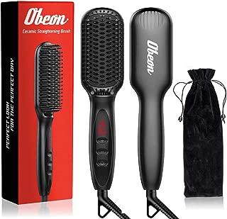 Ceramic Beard/Hair Straightener, Straightening Brush for men/women, Anti-Scald, Built-in Ionic Generator, Adjustable Temperature