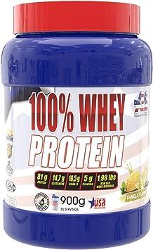 Whey protein, proteína en polvo, American Suplement - 900g (VAINILLA)