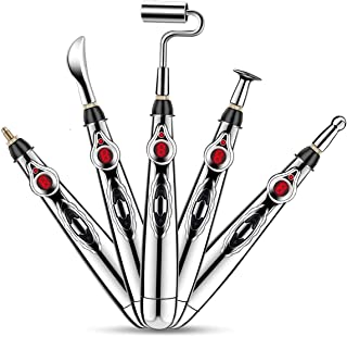 5-in-1 Acupuncture Pen, Migaven Electronic Acupuncture Meridian Therapy Machine Energy Pens Massager Relief Pain Tools with 5 Massage Heads 9 Levels
