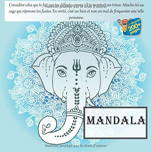 Mandala - Considère celui qui te fait voir tes défauts comme s'il te montrait un trésor. Attache-toi au sage qui réprouve tes fautes. En vérité, c'est ... non un mal de fréquenter une telle personne.