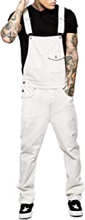 Cicilin Men's Bib Overalls Denim Dungarees Streetwear Suspender Pants Jeans