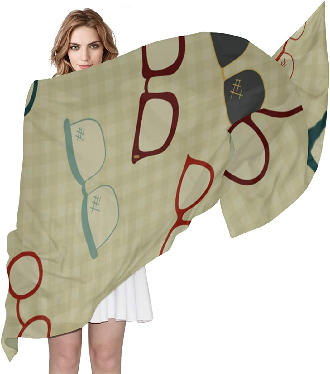 Fashion Scarf For Women Creative Beautiful Match Glasses Lightweight Scarf For Women Neck Scarf Lightweight Print Scarves Scarfs For Boys Wrap Or Shawl