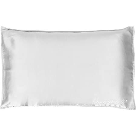 The Minimal Co. Mulberry Silk Pillowcase/Pillow Cover for Hair and Skin (Standard Size; 22 Momme; 1pc; Silver Gray)