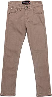 Victorious Boy's Colored Skinny Twill Denim Jeans BS101 - Taupe