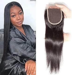 Ali Julia Hair Straight Lace Closure 4x4 Free Part 10A Peruvian Virgin Hair 100% Unprocessed Human Hair Extensions(12