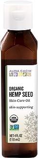 Aura Cacia Organic Hemp Seed Oil | GC/MS Tested for Purity | 118ml (4 fl. oz.)