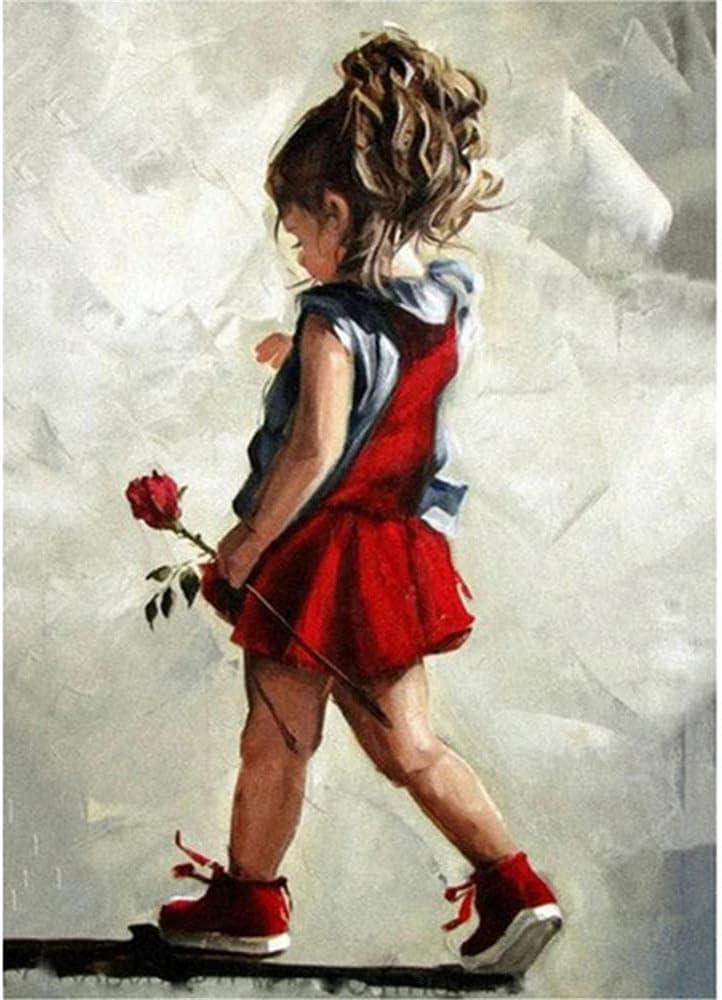 OFFer DIY Jacksonville Mall 5D Diamond Painting Kits,Little Square Rose Dril Full Girl