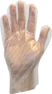 The Safety Zone GDPE-MD-E-100 Powder Free Polyethylene Gloves, Embossed Grip, High Density, Latex Free, Medium, Clear (Pack of 100)