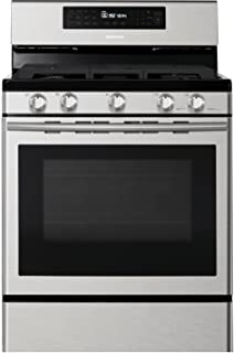 Samsung NX58H5600SS 30 In. Freestanding Gas Range with Custom Griddle and 5.8 Cu. Ft. Convection Oven, Stainless Steel
