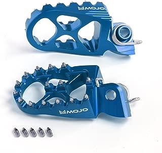 MOJO KTM Footpegs Fits 2002-2014 KTM Dirt Bikes & Most 2015 & 16's Anodized Blue CNC Billet Footpeg (7075 Alum.)