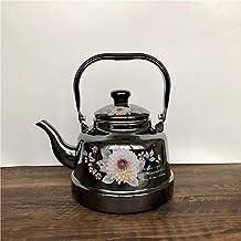 Emaille waterkoker melk theepot, glazuurketel, kleine spiegel glazuur, wit glazuur oude Bell waterkoker, inductiekookplaa...
