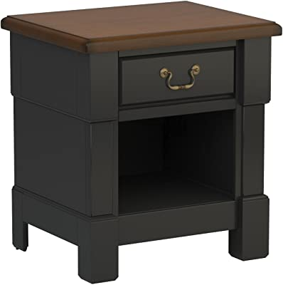 Aspen Rustic Cherry & Black Night Stand by Home Styles