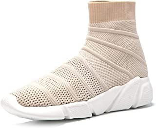 Exclusive Shoebox Women's Fashion Sneakers Walking Shoes, Men's Ultra Lightweight Breathable, Casual Athletic Running Shoes Knitted Socks Shoes