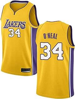 170cm//50~65kg Baloncesto Masculino Jersey Los Angeles Lakers 32# m/ágica Earvin Johnson Mangas Transpirable de Secado r/ápido Deporte Chaleco de la Tapa,Blanco,S
