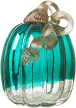 turquoise blown glass