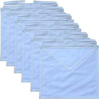 Masonic Member Aprons Set 12 Pack White Cotton Cloth For the Freemason By Equinox Masonic Regalia