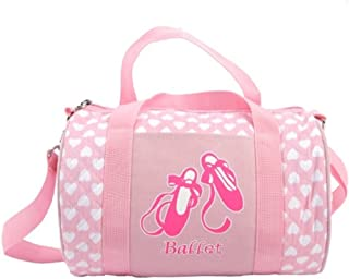 Peachnblue Quilted Dance Ballet Duffle Bag for Girls