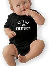Detroit VS Everybody Unisex Newborn Baby Boys and Girls' 100% Organic Cotton Short Sleeve Bodysuits Clothes