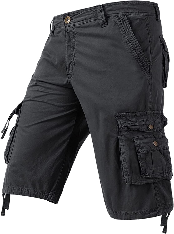Medbyliv Mens Cargo Shorts Multi Pockets Relaxed Fit Outdoor Shorts