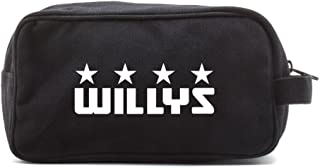Willys Jeep Freedom Stars Military Canvas Shower Kit Travel Toiletry Bag Case