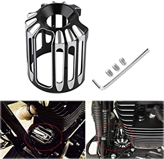 AQIMY Black CNC Aluminum Oil Filter Cover Cap Trim For Harley-Davidson Twin Cam Models Touring Glide Softail Dyna