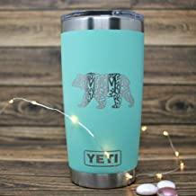 Custom YETI Tumbler 20 Oz Mama Bears Personalized YETI Travel Mug Custom YETI Rambler Tumbler Engraved YETI Monogrammed Yeti Laser Engraved Coffee Tumbler YETI Mug Mama Bear