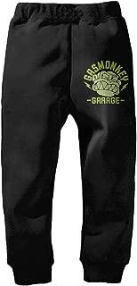 Boys Girls Monkey Garage Closed-Bottom Sweatpants