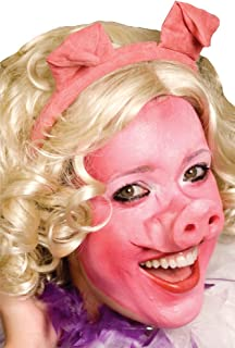 Woochie Pig Face Latex Prosthetic Nose and Chin Halloween Theme Party Accessory Beige