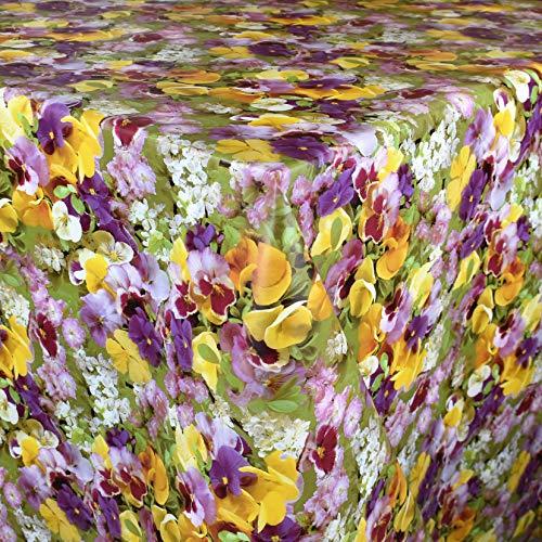 Kevkus C970 - Mantel de hule, diseño de flores primaverales, Borde: Corte de borde (sin bordes), multicolor, 120 x 200 cm eckig
