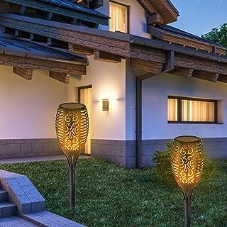 Solcellslampor utomhus, solcellslampa ficklampa, solcellslampa med flimrande flamma, flameffekt solcellslampor för trädgår...