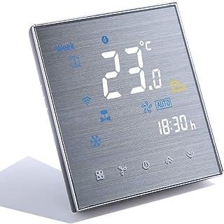 Qiumi Termostato Wifi, aire acondicionado inteligente controlador de temperatura, 2 tubos, funciona con Alexa Página princ...