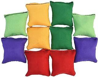 AngelDOU 10 Pack 2.75 inch Nylon Bean Bags Children Family Adults Outdoor Yard Games Bean Bag Toss Carnival Toy Bean Bag Toss Game