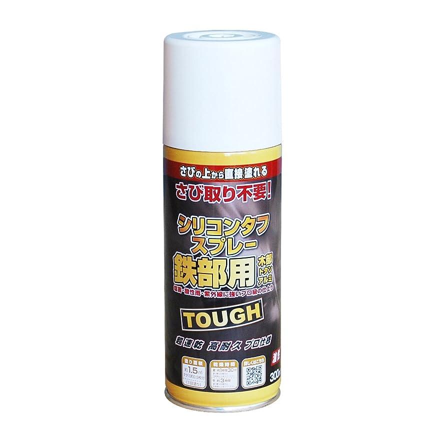 丁寧集団防止ニッペ 高耐久シリコン樹脂塗料 油性シリコンタフスプレー ホワイト(白) 300mL