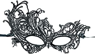 Hamour Womens Masquerade Lace Eye Mask for Halloween Christmas Party