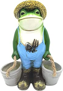 Boragai Resin Outdoor Garden Frog Decor Statues - Frog Figurines Gifts for Women - Patio Yard Lawn Statues Decorations, Home Garden Decor